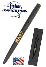 Matte Black U.S. Navy Military Word Fisher Space Pen / #M4BUSNAV