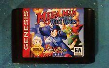 Sega Genesis Megaman The Wily Wars Cart Only Professional vinyl Label.
