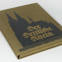 Old German Rhine Color Photo Portfolio 1923 w/40 Lithographs Cologne Dusseldorf