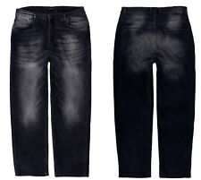 HERREN JEANS HOSE STRETCH DENIM COMFORT FIT W40 bis W56 STONE-BLACK LV-501-1