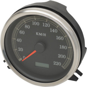 Drag Specialties Electronic KMH Speedometer KPH 1996-03 Harley Touring FXST FLST