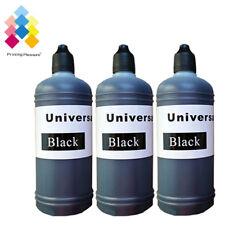 3 Black 100ml Universal Printer Refill Ink Bottles for CISS or Refillable