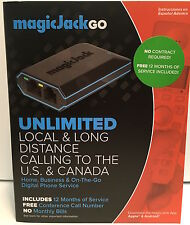 MagicJack Go VoIP (Latest Model) 12 Months FREE Service Brand New