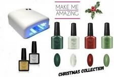 CCO UV/LED Nail Gel Polish Starter Kit. Christmas Nail Collection. 36w UV Lamp