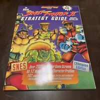 Street Fighter II Strategy Player's Guide Players Super SNES 2 RARE Near Mint!