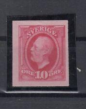 N3880/ SWEDEN – MI # 28 MINT NO GUM IMPERF ESSAY – CERTIFICATE – CV 1450 $
