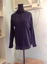 Zara Basic Long-sleeved Dark Blue Buttondown Blouse Size S