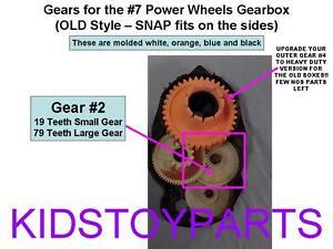 1 Fisher Price Power Wheels #7 Gearbox Gears: GEAR #2 ***TEETH ARE 19 / 79