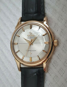Vintage Omega Constellation automatic watch, 18k solid gold, pie pan dial, 551