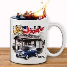 Personalizzata Blu Mini Cooper AUTO TAZZA COPPA dad regalo personalizzata-aggiungi nome