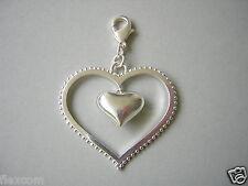 Pilgrim Charm Anhänger großes Herz 12,6 g / 5,8 x 4,1 cm