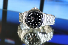 Men's Full Size OMEGA SEAMASTER Pro Co-Axial Bond 007 Black Ceramic Watch B/P