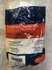 12U273 Rope, Nylon, Braided, 3/16 In. dia., 100ft L (lot of 4)
