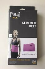 "Everlast F.I.T. Slimmer Belt Up To 52 Waist Size Extra Wide-10"" Wide Pink New"
