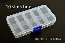 Adjustable Grid Box jewery necklace Parts Storage fishing Plastic Case 10slot