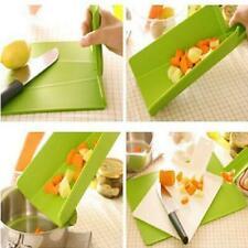 1-10x Plastic Foldable Non-slip Cutting Board Chopping Mat Pad Kitchen Tool New