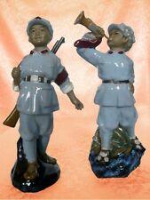 Mao Volksarmee 2 Figuren Keramik