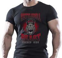 KETTLEBELL GORILLA BEAST TRAINING BODYBUILDING MOTIVATION T-Shirt MMA WORKOUT