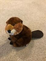 "Aurora Standing Plush Beaver Silky Stuffed Animal 14"" Tall Toy 2015"