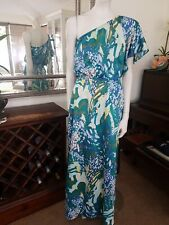 Christin Michaels Maxi Dress One Shoulder.SzS.Fit 8-12.Relaxed easy fit.Md USA