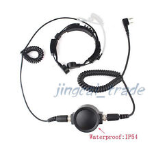 Military IP54 Big PTT Telescopic Throat Mic Headset for Kenwood Puxing Baofeng