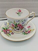 Unique Antique BELL Fine Bone China Cup & Saucer England Old Country Spray