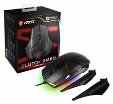 MSI Clutch GM60 Wired GAMING Mouse, RGB Mystic Light, USB Gold-plated Connector
