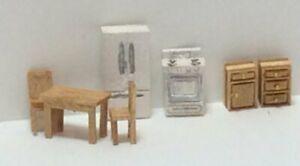 Dollhouse Miniature 1:144 Scale Modern Style Kitchen Furniture Kit 7 ( PCS)
