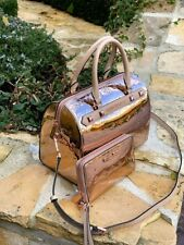 NWT Michael Kors Large Duffle ROSE GOLD Metallic Signature handbag/Wallet option