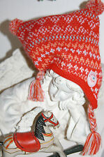 Cakewalk Baby Mütze Bommel Red Melange Size:1 Umfang: 41cm   Neu