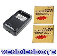 2 Bateria de Mayor Capacidad 2450mAh + Cargador Para Samsung Galaxy SII S2 i9100