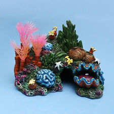 Artificial Mounted Coral Reef Fish Cave Tank Aquarium Decor Ornament AU