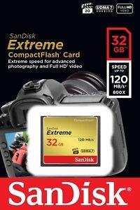 Sandisk CF 32 GB Extreme 120 MB/s Speicherkarte Compact Flash SDCFXSB - OVP/DE