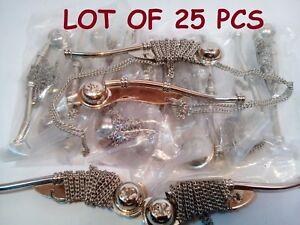"LOT OF 25 PCS NAUTICAL ANTIQUE BRASS NICKEL BOATSWAIN'S PIPE BOSUN WHISTLE 5"""