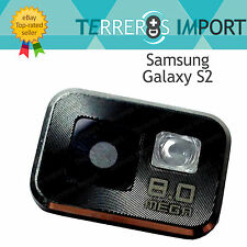 Embellecedor Camara Lente Flash Negro para Samsung Galaxy S2 i9100