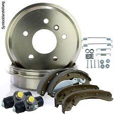 Bremstrommeln + Bremsbacken + Radbremszylinder + Montagesatz für Opel Astra F G