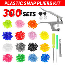300 Sets T5 Round Plastic Snap Buttons Press Stud Fasteners For Baby Clothes DIY