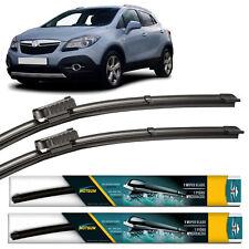 Vauxhall Mokka 2012 2013 2014 2015 2016 Front Pair Flat Aero Wiper Blades