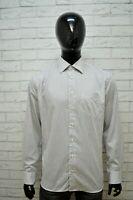 Camicia Uomo TOMMY HILFIGER Taglia 41 16 XL Maglia Polo Shirt Righe Tailored
