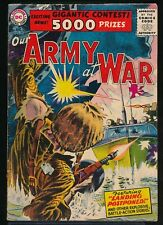 OUR ARMY at WAR No. 49 1956 DC Comic JOE KUBERT Landing Postponed Cover 3.5 VG-
