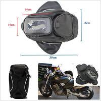 1 Pcs Black Magnetic Motorcycle Motorbike Oil Fuel Tank Bag With Belt Waterproof