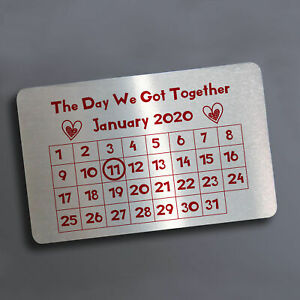 Personalised Valentines Gift Novelty Metal Wallet Card Anniversary Gift For Him