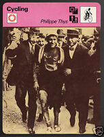 PHILIPPE THYS 1913 Tour de France Cycling Photo 1978 SPORTSCASTER CARD 37-07