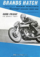 Brands Hatch 19th April 1957 Programme Cover POSTER
