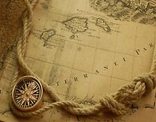 OLD WORLD MAP CUMPAS ROPE   MOUSE PAD  IMAGE FABRIC TOP RUBBER BACKED
