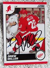 Detroit Red Wings Drew Miller Signed 10/11 Score Glossy Card Auto