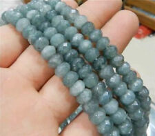 5x8mm Faceted Brazilian Aquamarine Gem Loose Beads 15""