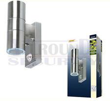 Außenwandleuchte aus Edelstahl mit Bewegungsmelder und 2 Halogenlampe 2xGU10 35W