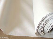 SAMPLE Off White NON PERFORATED Vinyl CAR HEADLINING Fabric BLACK CREAM