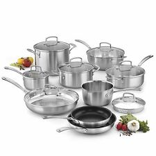 Cuisinart Classic 16 Pc. Premium Stainless Steel Cookware Set - NEW!